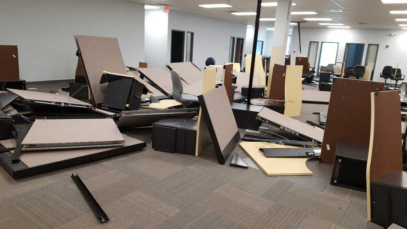 office cubicles removal