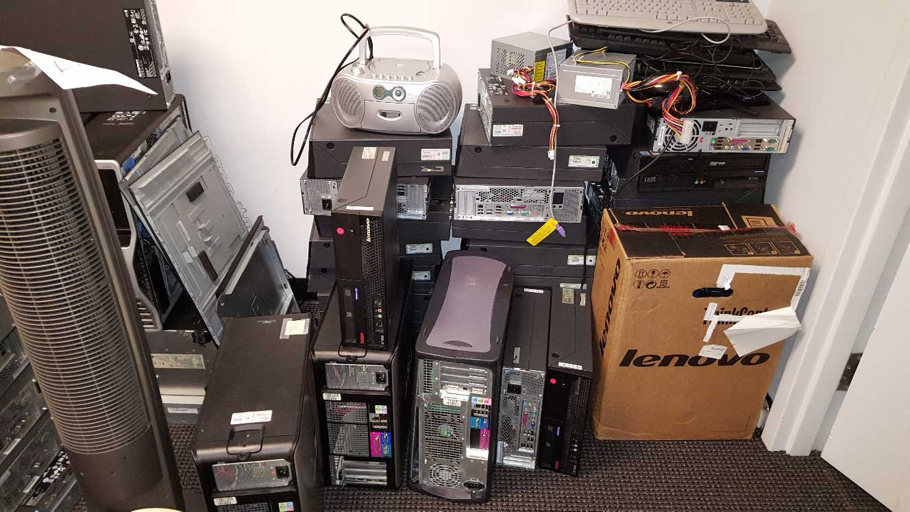 electronics ready for recycling