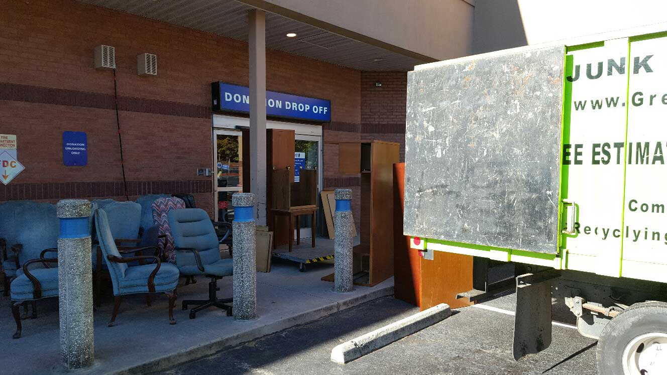 office furniture removal and taken to donation center