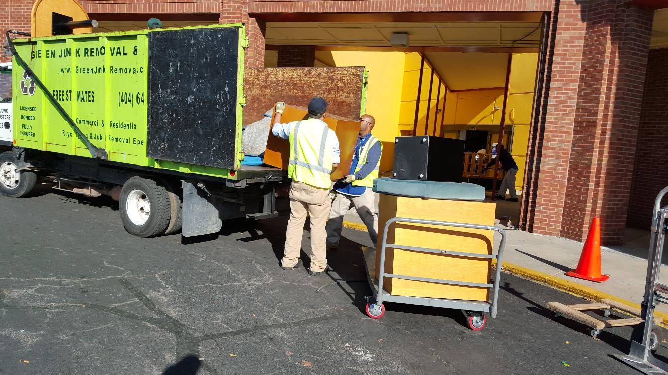 unloading commercial junk