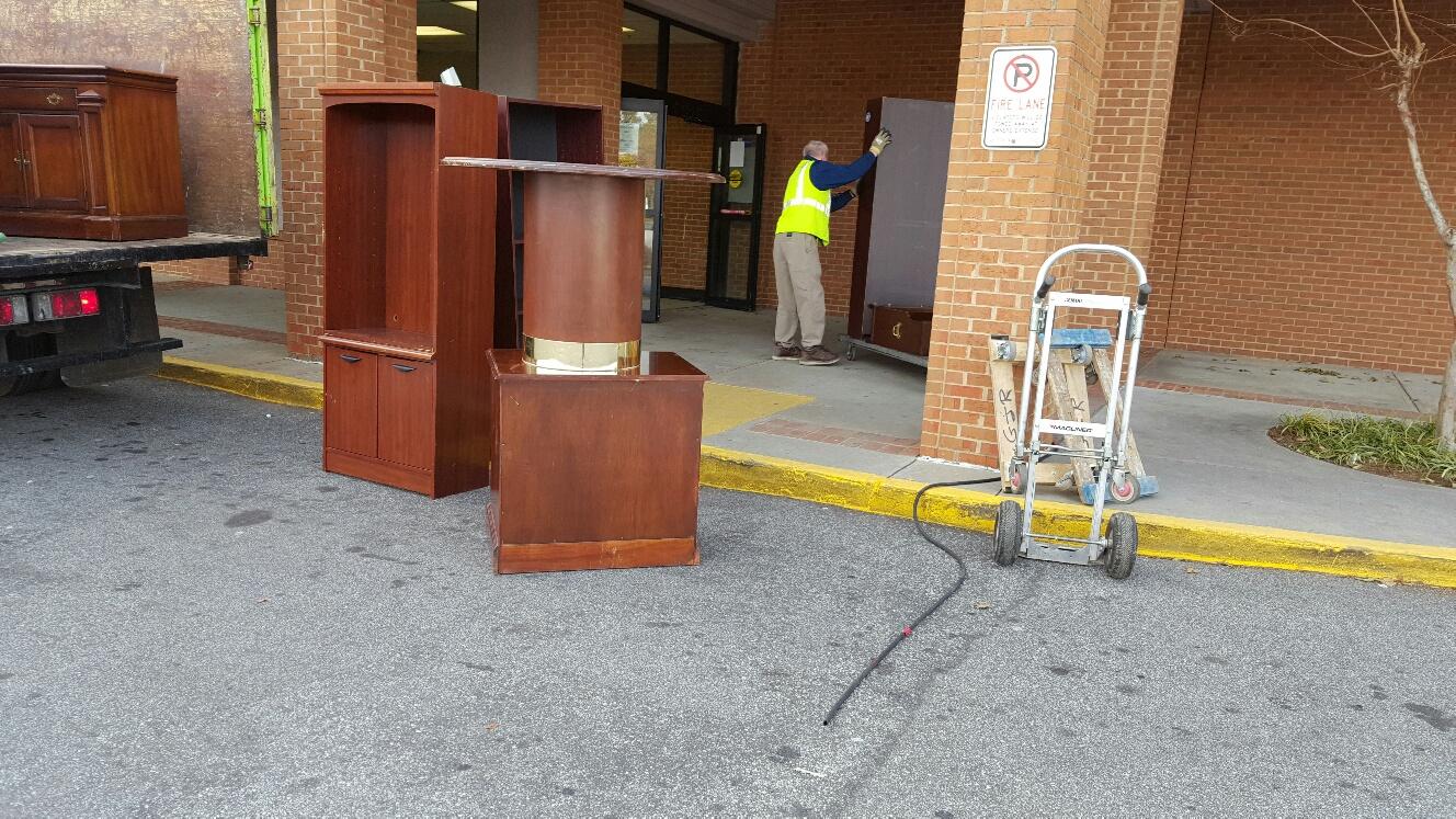 unloading office furniture