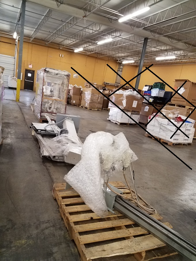 industrial machines removal
