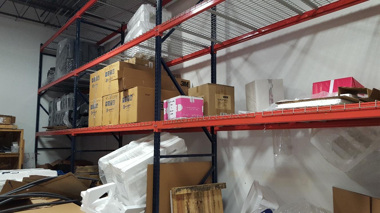 commercial warehouse shelves