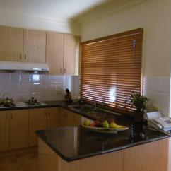 Blinds For Kitchen Windows Honest Beams Green Cabinets