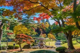 藤田記念庭園の紅葉
