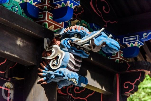 中門の彫刻