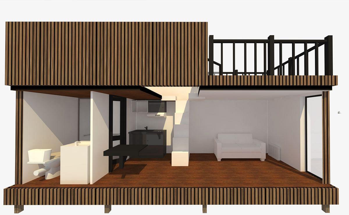 Tiny House Mobile Ou Fixe En Bois Sans Permis De Construire Greenkub