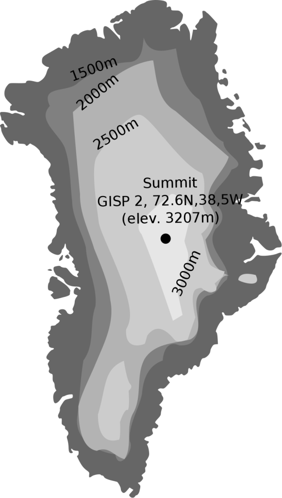 Thickness of the Greenland Ice Sheet
