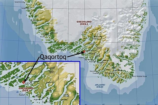 Quaqqortoq map