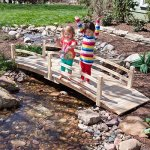 12-Ft-Wooden-Garden-Bridge-with-Rails-in-Unfinished-Fir-Wood-0-0