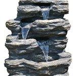 24-Rock-Waterfall-Garden-Fountain-w-LED-Lights-Perfect-Garden-Water-Feature-Patio-Fountain-Outdoor-Fountain-Features-Elegant-Waterfall-Flow-0