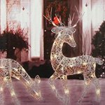 3-Piece-White-Glittered-Doe-Fawn-and-Reindeer-Lighted-Christmas-Yard-Art-Decoration-Set-0-0