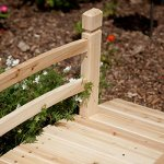 4-foot-Unfinished-Freestanding-Fir-Wood-Garden-Bridge-with-Hand-Rails-and-Posts-Bridge-Can-Be-Treated-with-Your-Preferred-Stain-0-1