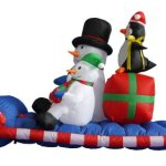 6-Foot-Long-Christmas-Inflatable-Snowman-Penguin-on-Sleigh-Yard-Decoration-0-0
