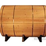 6-Ft-Canadian-Outdoor-RED-CEDAR-Barrel-Sauna-WET-DRY-SPA-4-Person-Size-0-0