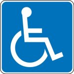 Accuform-Signs-FRA205RA-Engineer-Grade-Reflective-Aluminum-Handicapped-Parking-Sign-New-York-Texas-Legend-WHEELCHAIR-SYMBOL-24-Length-x-24-Width-x-0080-Thickness-White-on-Blue-0