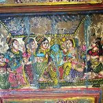Antique-Doors-Hindu-God-Hand-Painted-Barn-Door-Brass-Fitted-Indian-Furniture-0-1