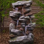 Bear-Creek-Waterfall-Fountain-Towering-Rock-Outdoor-Water-Feature-for-Gardens-Patios-Hand-crafted-Weather-Resistant-Resin-LED-Lights-Pump-Included-0-0