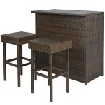 Best-Choice-Products-3PC-Wicker-Bar-Set-Patio-Outdoor-Backyard-Table-2-Stools-Rattan-Garden-Furniture-0