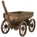 Best-Choice-Products-Patio-Garden-Wooden-Wagon-Backyard-Grow-Flowers-Planter-w-Wheels-Home-Outdoor-0-0
