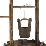Best-Choice-Products-Wooden-Wishing-Well-Bucket-Flower-Planter-Patio-Garden-Outdoor-Home-Dcor-0-1