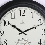Chaney-Balmoral-Atomix-Black-18-in-Wall-Clock-0-0
