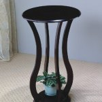 Coaster-900934-Round-Plant-Stand-with-Curved-Legs-Cappuccino-0