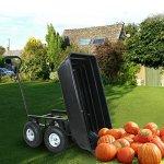 F2C-Poly-Garden-Dump-Cart-Heavy-Duty-Dumper-75L-650lb-Capacity-with-Steel-Frame-Pneumatic-Air-Tires-0-0