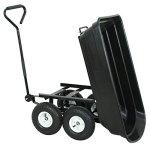 F2C-Poly-Garden-Dump-Cart-Heavy-Duty-Dumper-75L-650lb-Capacity-with-Steel-Frame-Pneumatic-Air-Tires-0