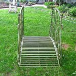 Garden-Bridge-375-Tall-Iron-Rustic-Green-Finish-Garden-Decor-0-0