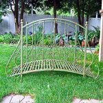 Garden-Bridge-375-Tall-Iron-Rustic-Green-Finish-Garden-Decor-0-1