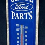 Genuine-Ford-Parts-IndoorOutdoor-Weather-Thermometer-Tin-Sign-5×17-0