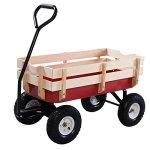 Giantex-All-Terrain-Cargo-Wagon-Wood-Railing-Kids-Children-Garden-Air-Tires-Outdoor-Red-0-1