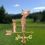 Good-Directions-561P-Golfer-Weathervane-Polished-Copper-0-0