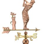 Good-Directions-561P-Golfer-Weathervane-Polished-Copper-0