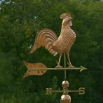 Good-Directions-616P-Barn-Rooster-Estate-Weathervane-Polished-Copper-0-1