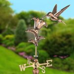 Good-Directions-8807PG-Hummingbird-Garden-Weathervane-Polished-Copper-with-Garden-Pole-0-0