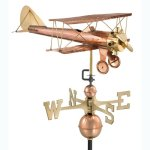 Good-Directions-9521P-Biplane-Weathervane-Polished-Copper-0