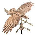 Good-Directions-9699PA-Soaring-Hawk-Weathervane-Polished-Copper-0