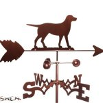 Hand-Made-LABRADOR-LAB-DOG-SIDE-Mount-Weathervane-NEW-by-SWEN-Products-0