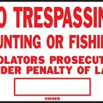 Hy-Ko-Sign-Red-10-X-14-No-Trespass-Aluminum-0