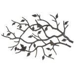 IndoorOutdoor-Cast-Iron-Bird-Branch-Wall-Art-0