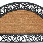 J-M-Home-Fashions-Coir-and-Rubber-Scroll-Border-Plain-Half-Round-Doormat-24-x-40-0