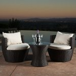 Kyoto-Outdoor-Patio-Furniture-Brown-Wicker-3-piece-Chat-Set-w-Cushions-0