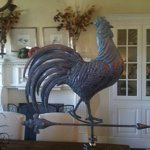 LARGE-Handcrafted-3D-3-Dimensional-full-Body-Rooster-Weathervane-Copper-Patina-Finish-0