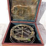 Large-8-Inch-Perfectly-Calibrated-Big-Sundial-Compass-with-Rosewood-Case-Top-Grade-C-3051-0-0