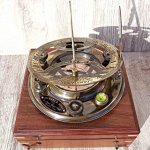 Large-8-Inch-Perfectly-Calibrated-Big-Sundial-Compass-with-Rosewood-Case-Top-Grade-C-3051-0