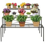 Large-Modern-Black-Metal-3-Tier-Shelf-Flower-Plant-Display-Stand-Rack-Freestanding-Home-Decor-Shelves-0-0