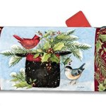 Magnet-Works-MAIL01008-Holly-Hat-Mail-wrap-by-MailWraps-0