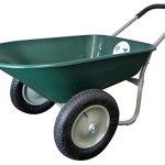 Marathon-Dual-Wheel-Residential-Yard-Rover-Wheelbarrow-Green-5-Cubic-Foot-Poly-Tray-0